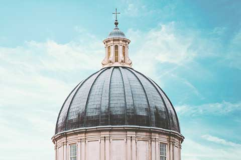 Hodges Chapel Dome Blue Sky