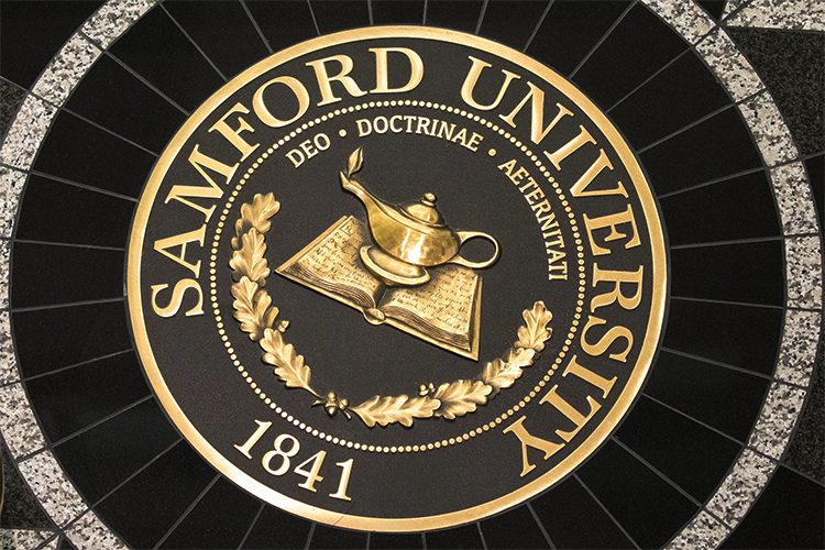 The seal of Samford University