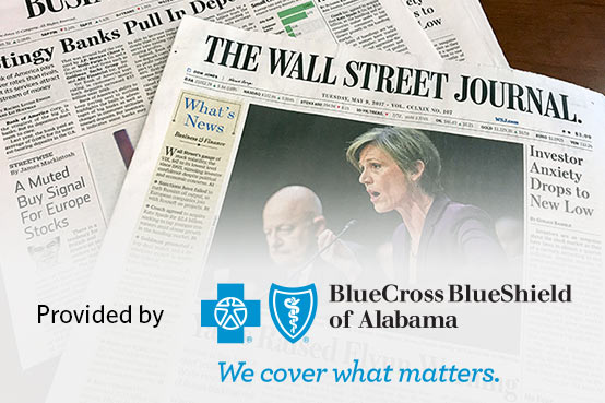 Wall Street Journal Provided by BCBS AL