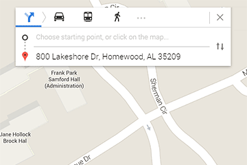 Sample Google Map Directions