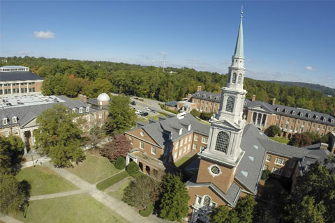 Reid Chapel from the air