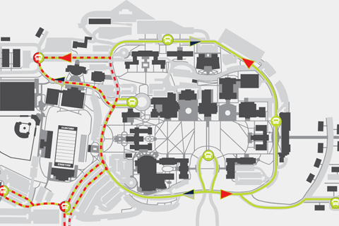campus parking map sample
