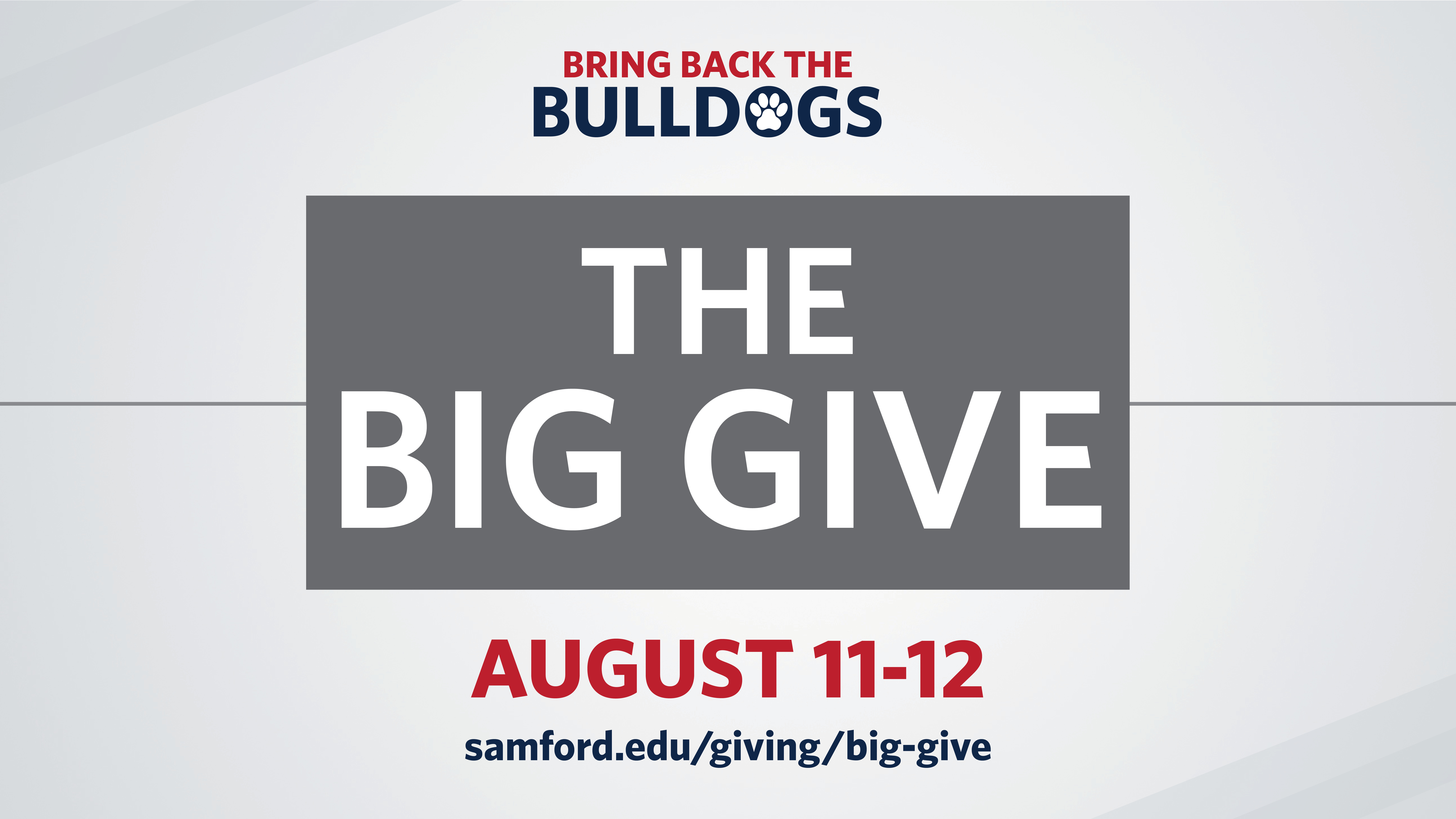 Samford Big Give Web Banner