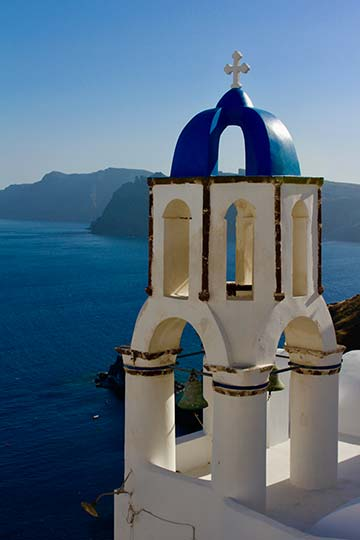 Tower view of Santorini, Greece