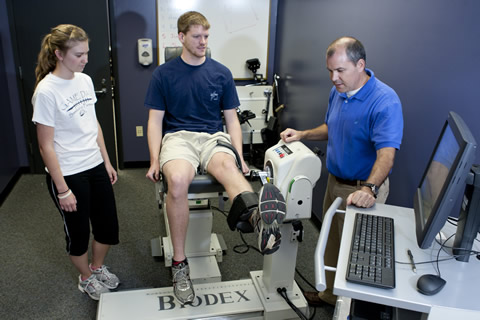 Kinesiology testing with male and female students and male professor