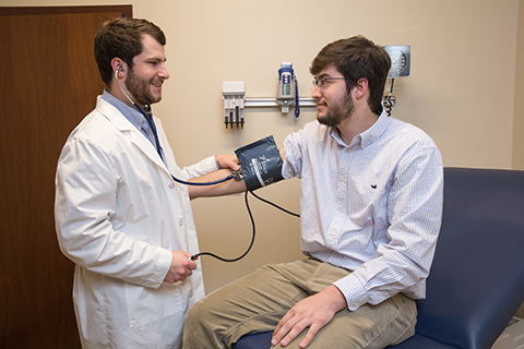 health professions student blood pressure
