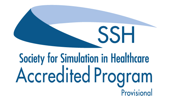 Accredited program logo from the Society for Simulation in Healthcare