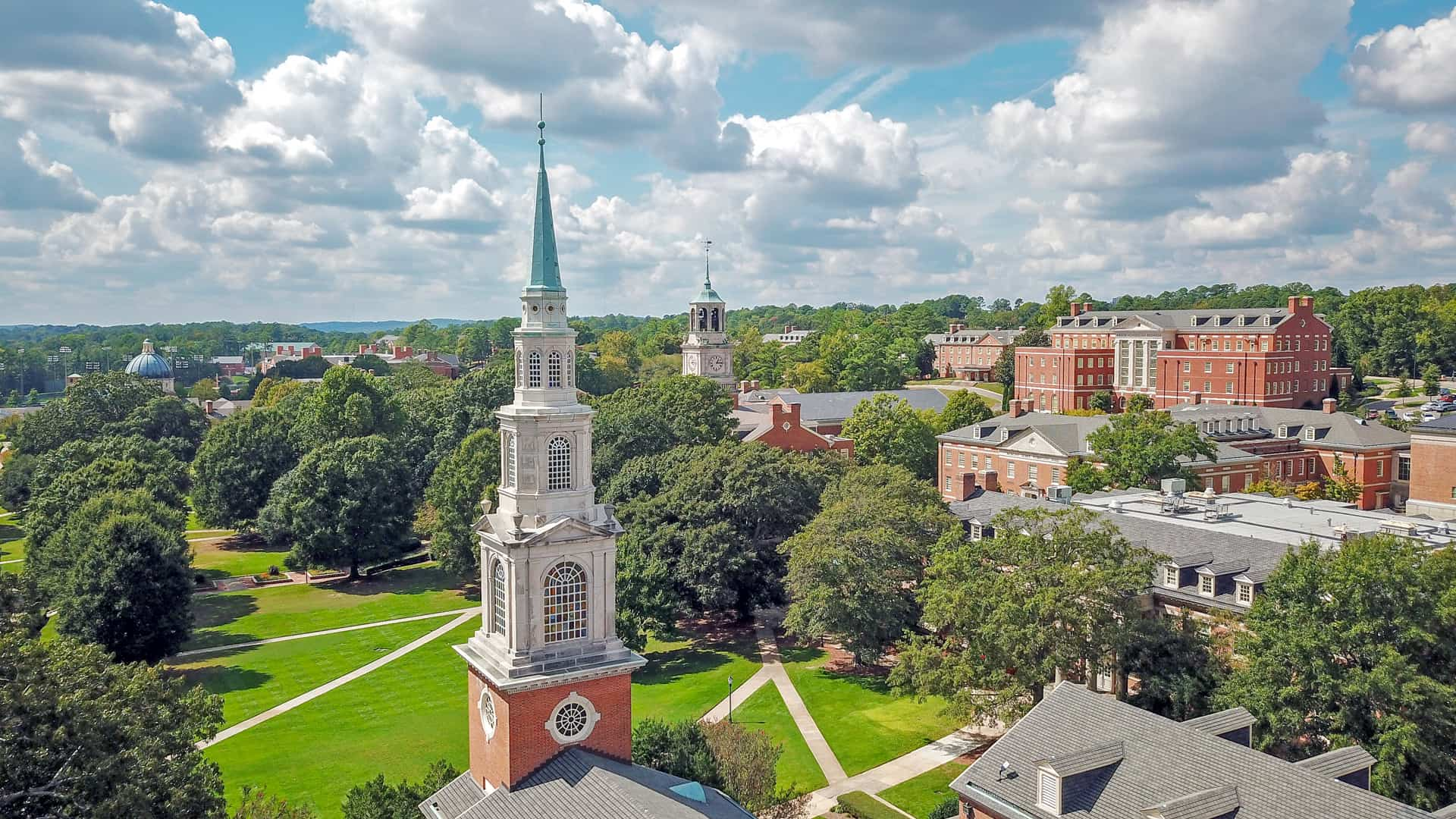 Campus Aerial from Reid Chapel