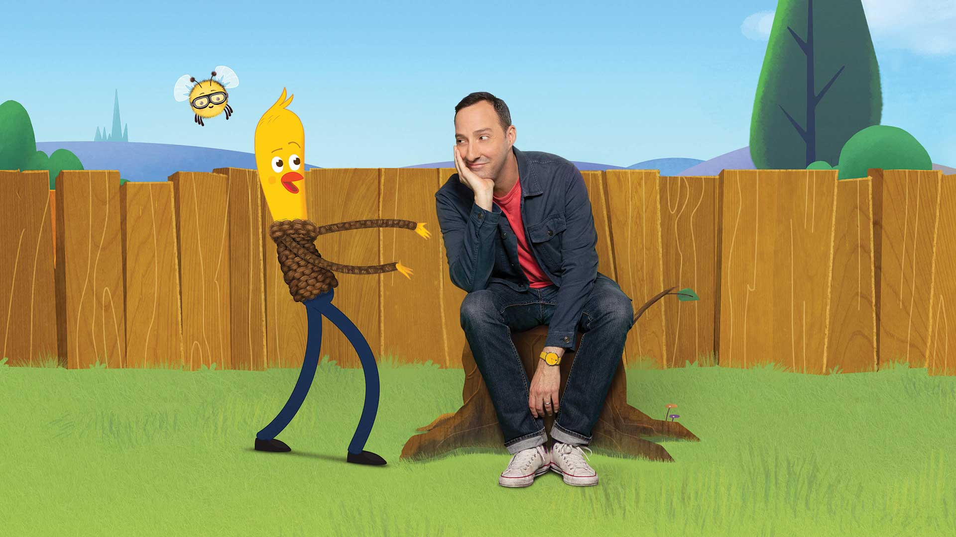 Tony Hale and Archibald and Bea photo cred Piper Ferguson