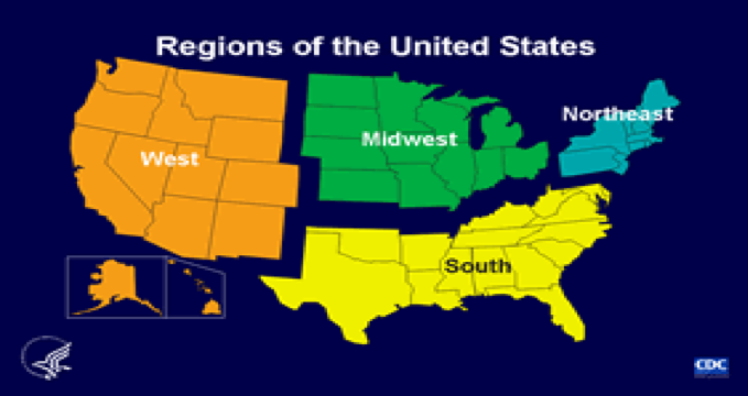 Map Regions of the US